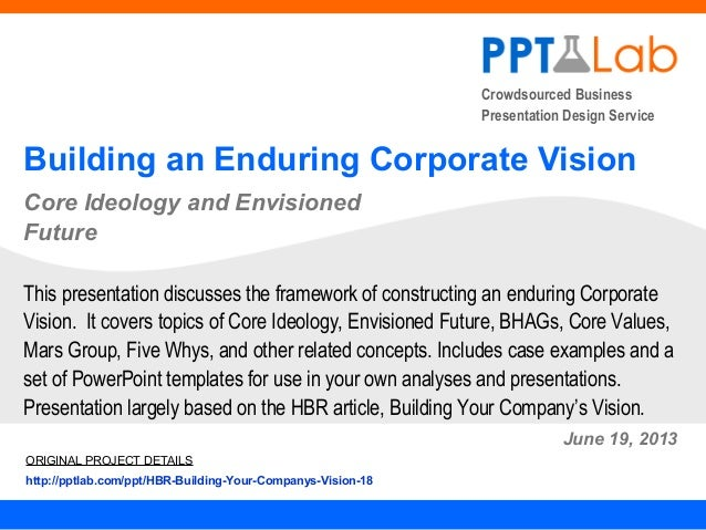Crowdsourced BusinessPresentation Design ServiceBuilding an Enduring Corporate VisionCore Ideology and EnvisionedFutureJun...
