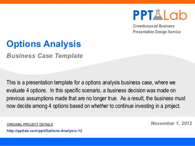 Options analysis business case crowdsourced business presentation accmission Image collections