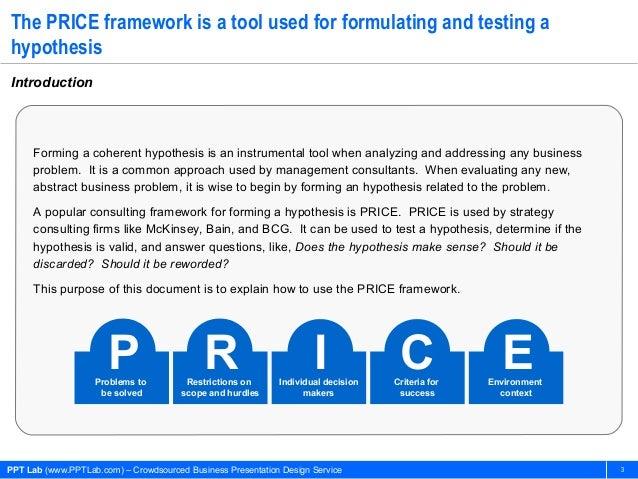 PRICE Framework: Hypothesis Generation Slide 3