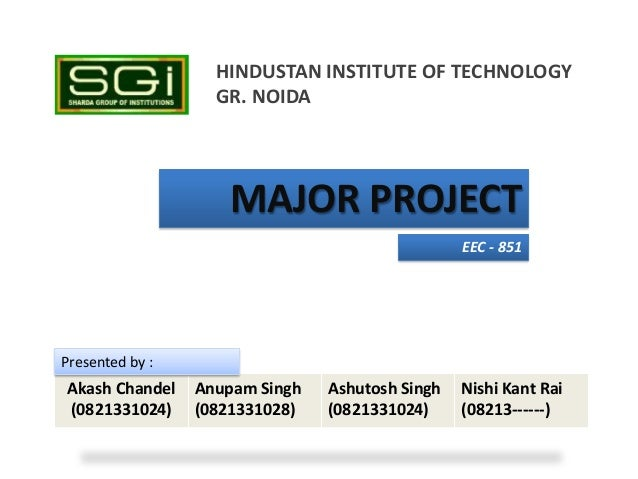 HINDUSTAN INSTITUTE OF TECHNOLOGY                   GR. NOIDA                    MAJOR PROJECT                            ...