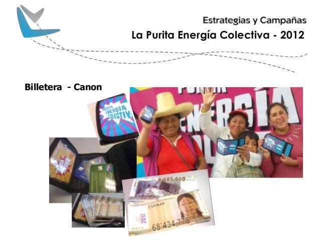 Billetera - Canon La Purita Energía Colectiva - 2012