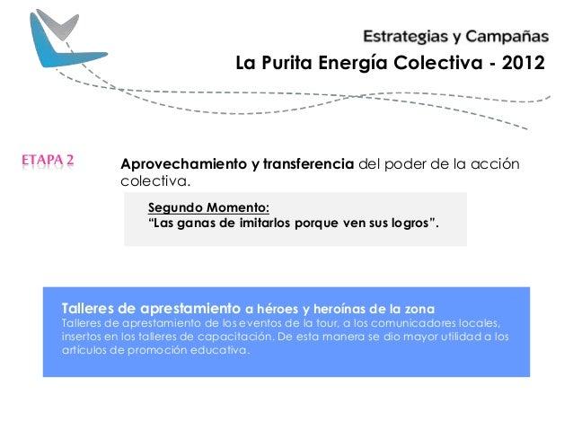 Aprovechamiento y transferencia del poder de la acción colectiva. ETAPA2 La Purita Energía Colectiva - 2012 Segundo Moment...