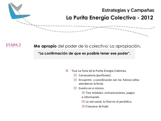 """Me apropio del poder de lo colectivo: La apropiación.ETAPA3 La Purita Energía Colectiva - 2012 """"La confirmación de que es ..."""