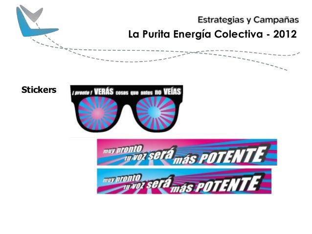 La Purita Energía Colectiva - 2012 Stickers
