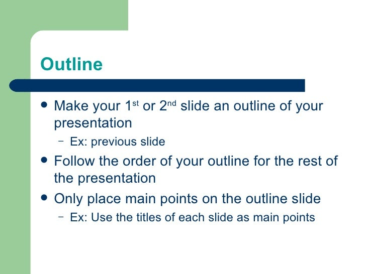 presentation layout tips