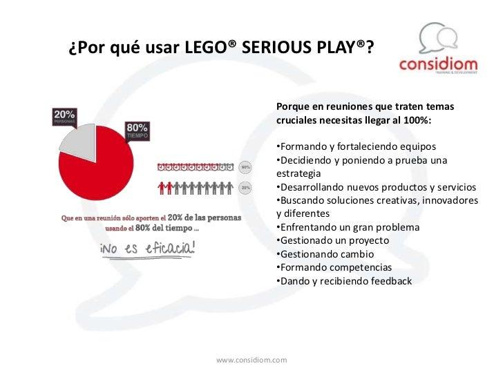 ¿Por qué usar LEGO® SERIOUS PLAY®?                              Porque en reuniones que traten temas                      ...