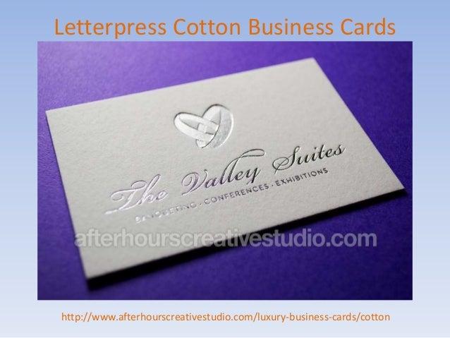 Affordable Letterpress Cotton Business Cards Order Online