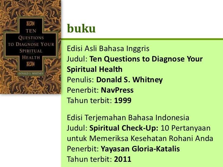 Spiritual Check Up Slide 2