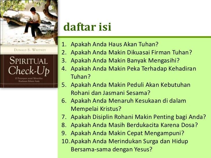 Spiritual Check Up Slide 3