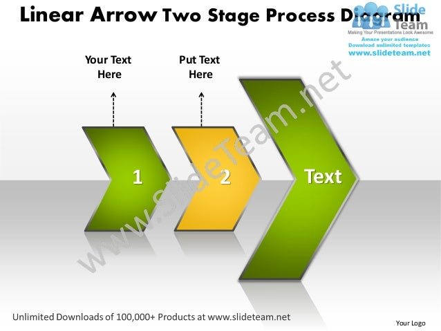 ppt linear arrow two stage process network diagram. Black Bedroom Furniture Sets. Home Design Ideas
