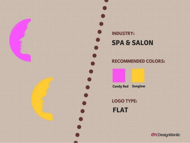 Industry: Spa & Salon Logo Type: Flat Colors: Candy Red, Sun Glow Logo