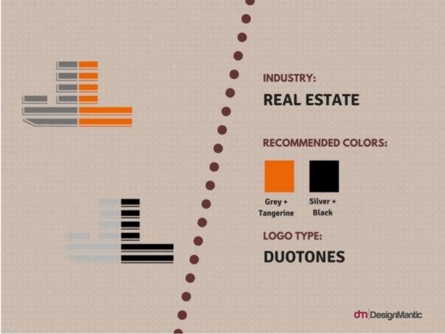 Industry: Real Estate, Colors: grey + Tangerine, Silver + Black