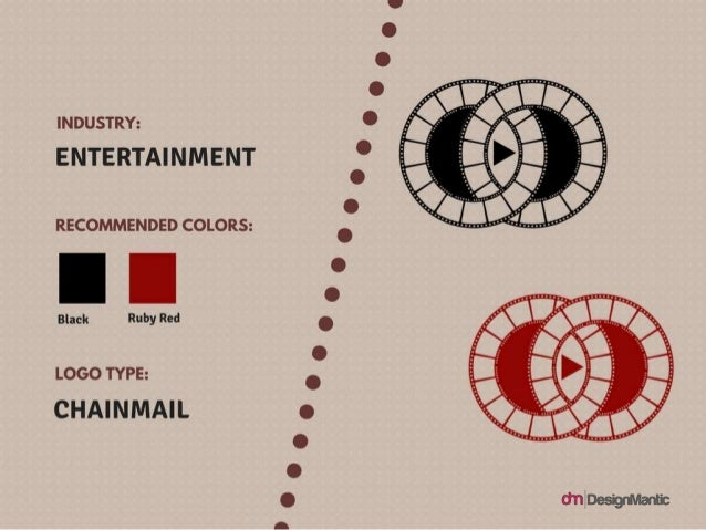 Industry: Entertainment Logo Type: Chainmail Colors: Black Ruby Red