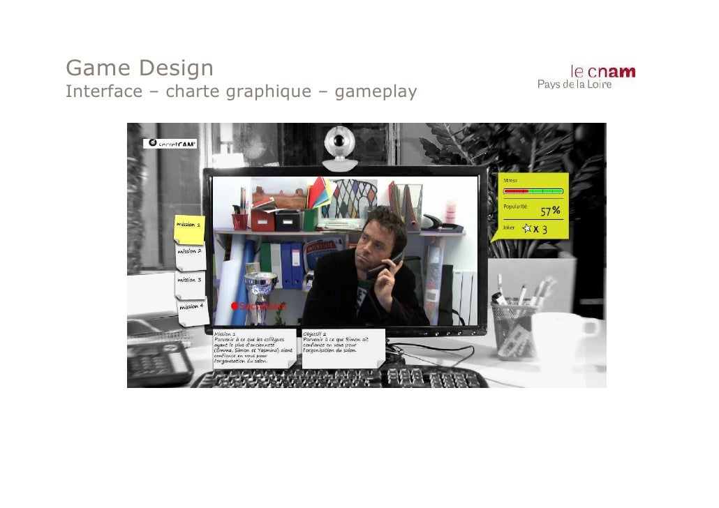 Game DesignInterface – charte graphique – gameplay