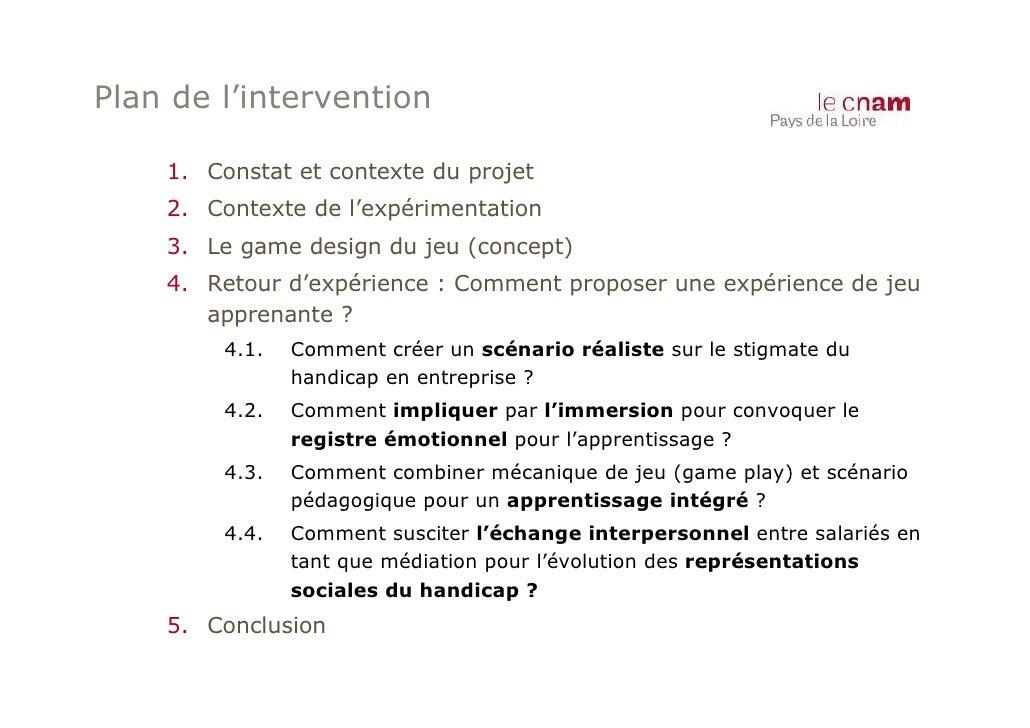 Plan de l'intervention    1. Constat et contexte du projet    2. Contexte de l'expérimentation    3. Le game design du jeu...
