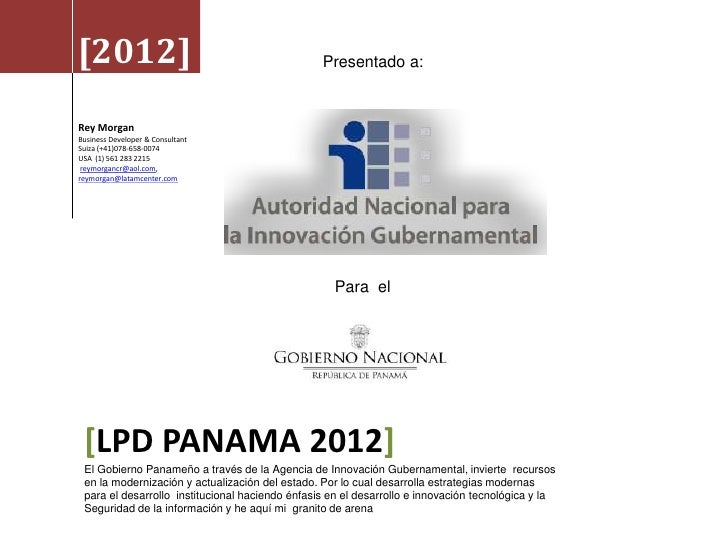 [2012]                                           Presentado a:Rey MorganBusiness Developer & ConsultantSuiza (+41)078-658-...