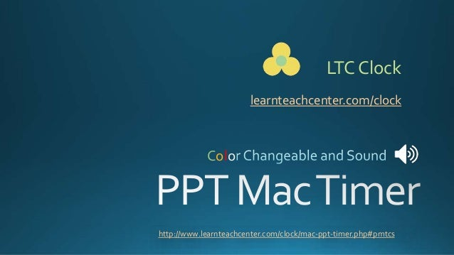 Countdown Timer/Clock for PowerPoint on Mac