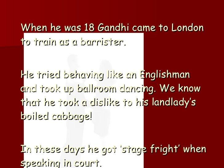 Ppt Mahatma Gandhi