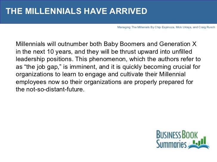 Managing The Millenials
