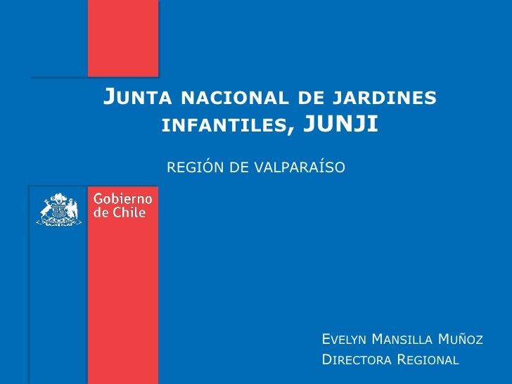JUNTA   NACIONAL DE JARDINES    INFANTILES,    JUNJI    REGIÓN DE VALPARAÍSO                     EVELYN MANSILLA MUÑOZ    ...