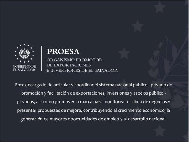 Servicios de PROESA - Dirección de Exportaciones Slide 2