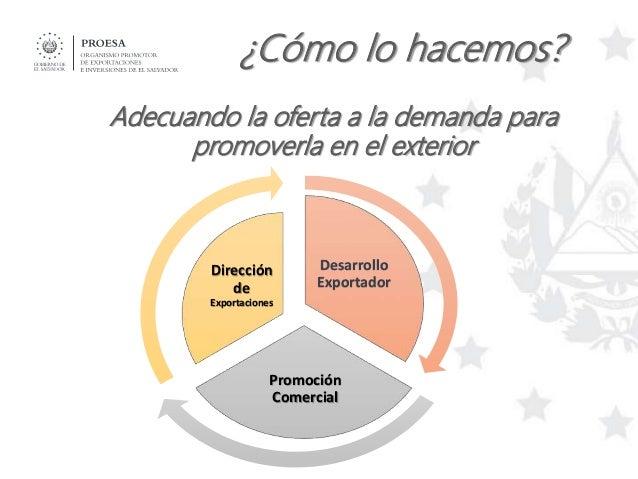 Servicios de PROESA - Dirección de Exportaciones Slide 3