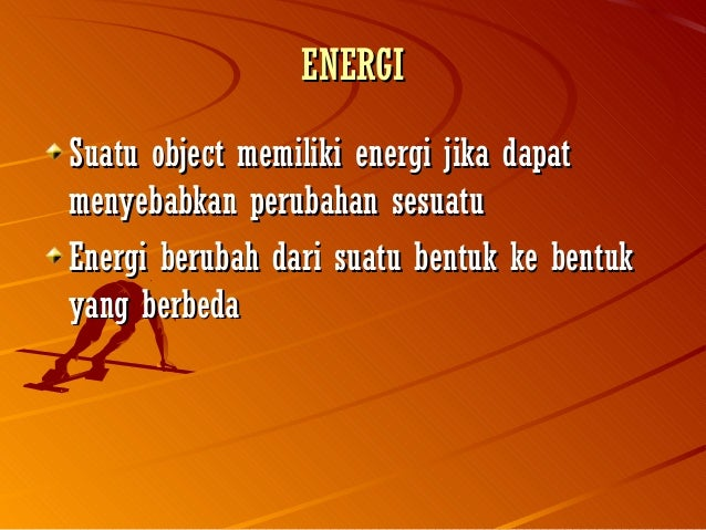 Ppt Materi Energi