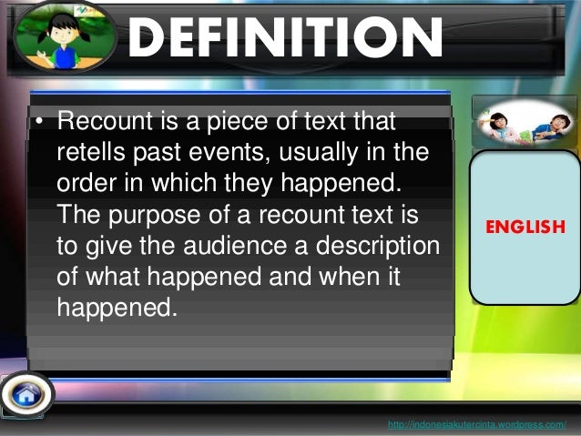 presentation on recount text This fantastic powerpoint guides you through the process of writing a quality  recount great for reinforcing and aiding your teaching on non-fiction texts.