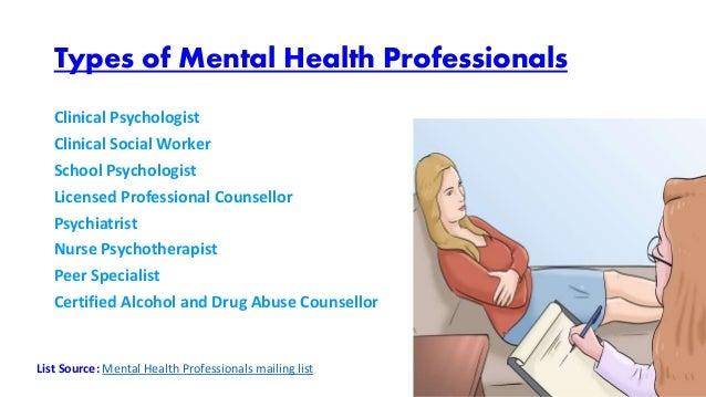 Mental Health Practitioner Mailing Lists