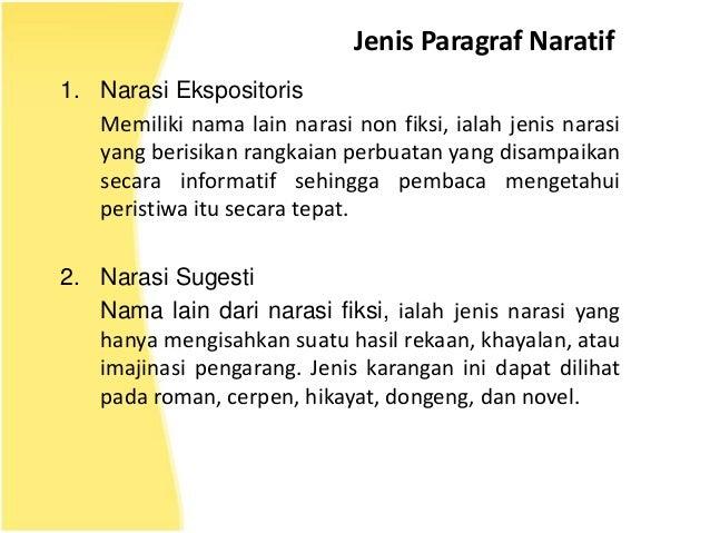 Menulis Paragraf Naratif