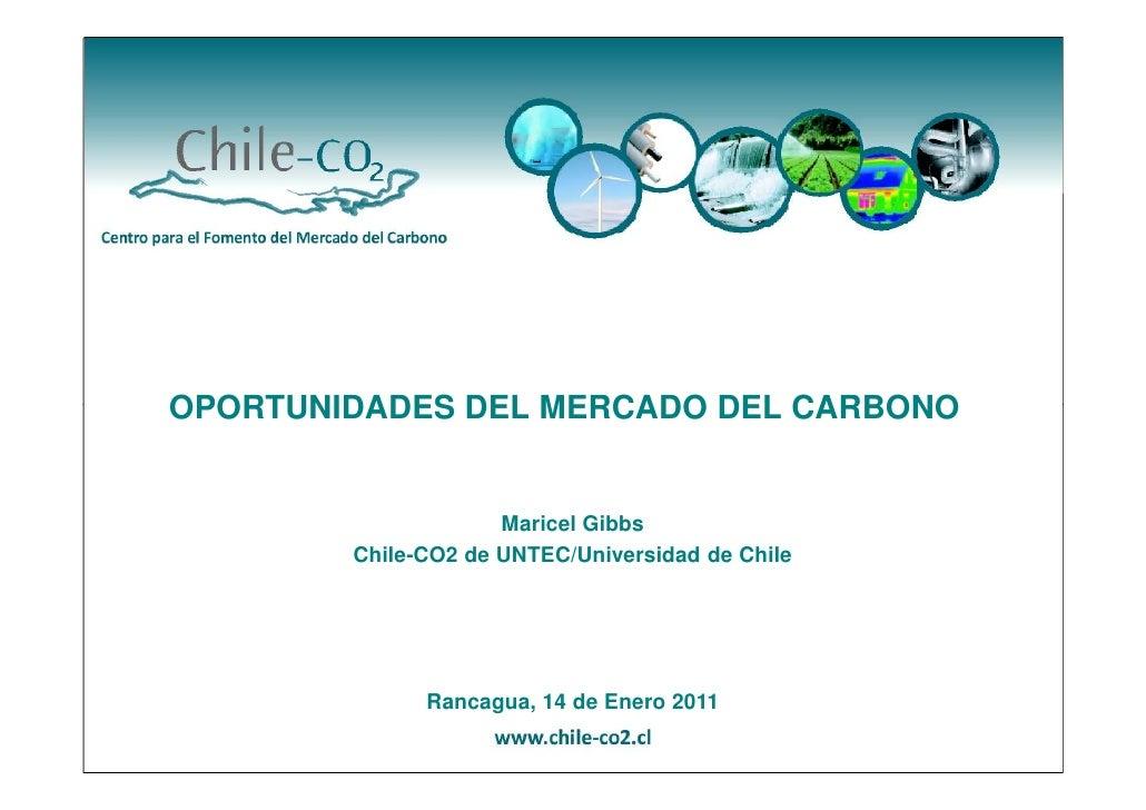 OPORTUNIDADES DEL MERCADO DEL CARBONO                     Maricel Gibbs        Chile-CO2 de UNTEC/Universidad de Chile    ...