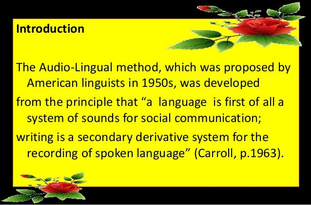 Communicative Process using that Audio-Lingual Approach Dissertation Piece