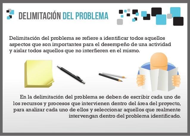 delimitacion del problema de investigacion pdf