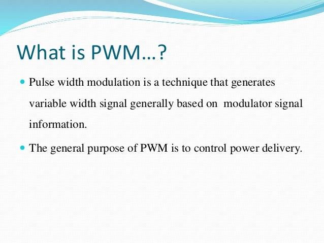 PULSE WIDTH MODULATION &DEMODULATION