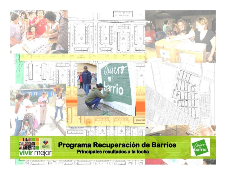 Programa Recuperación de Barrios      Principales resultados a la fecha