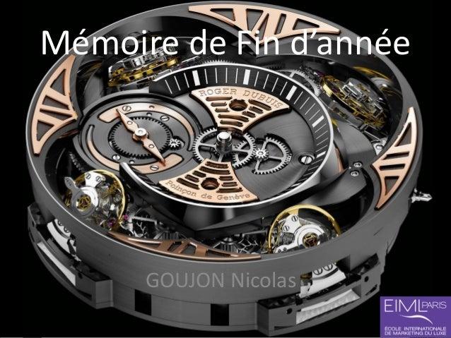 Mémoire de Fin d'année GOUJON Nicolas