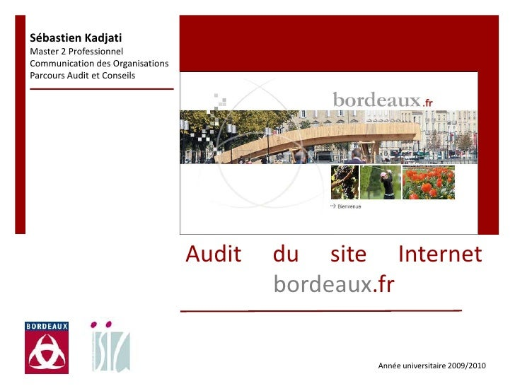 Ppt mémoire stage   mairie de bordeaux- skadjati M2 audit_isic 2009-2010