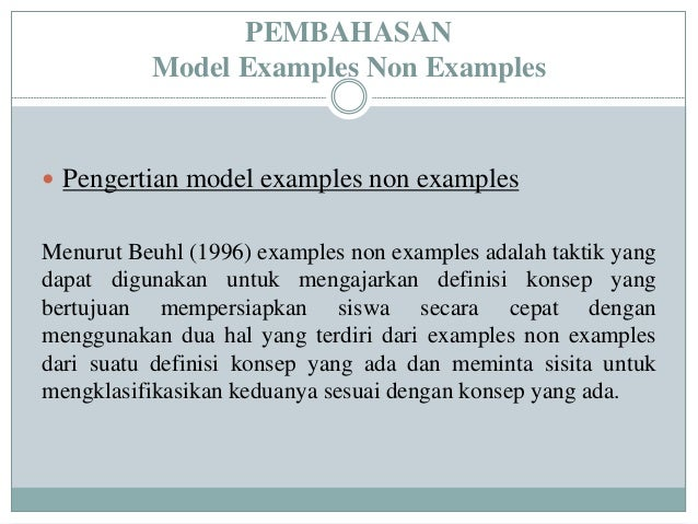 Ppt Model Examples Non Examples