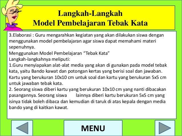 Ppt Model Pembelajaran Tebak Kata