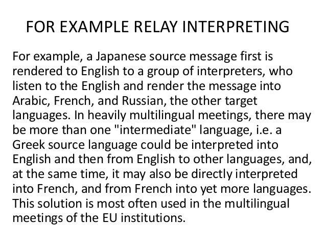 Ppt Modes Of Interpreting