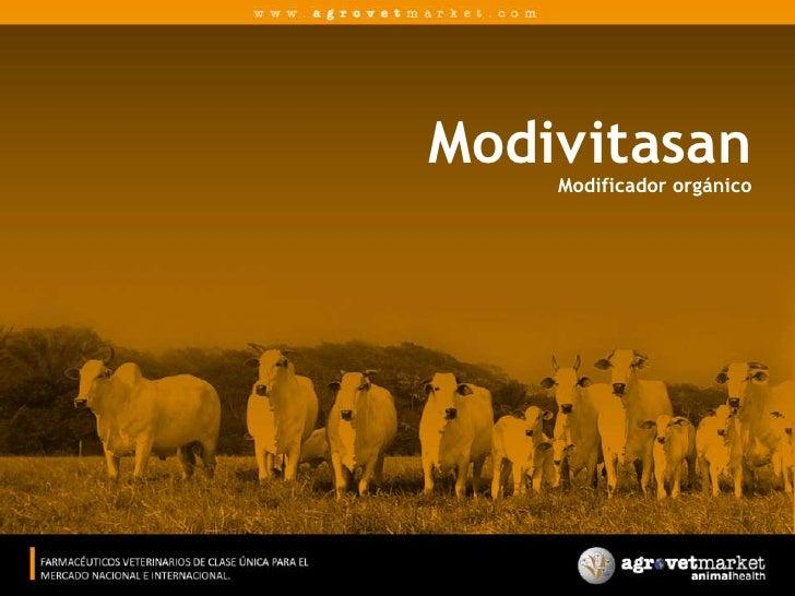 ModivitasanModificador orgánico<br />