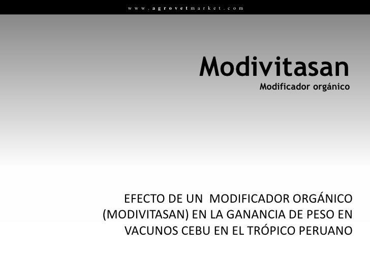 Modificador Orgánico: Modivitasan Slide 2