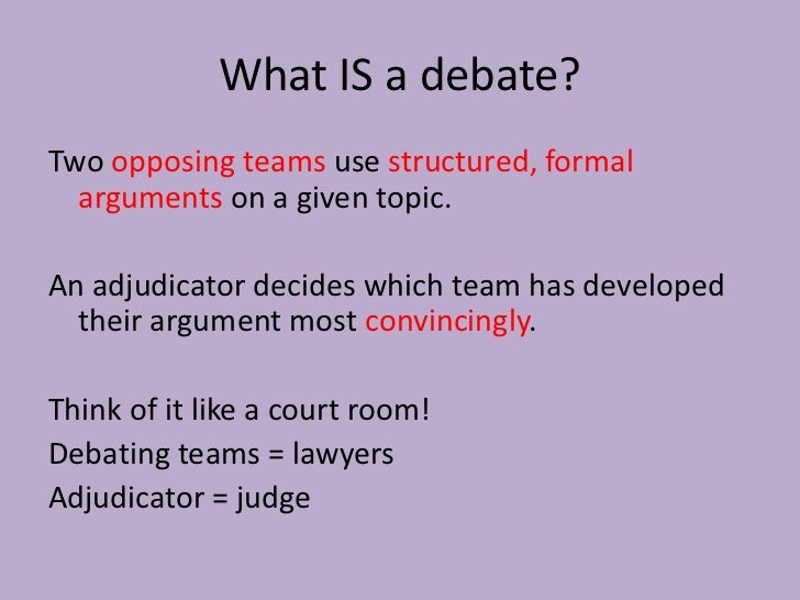 How Do You Start a Debate Introduction?