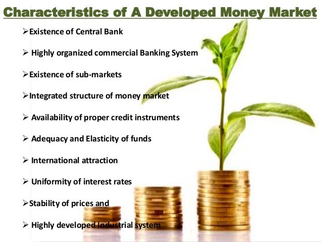 Importance of Money Market  Financing Industry  Financing trade  Self sufficiency of banks  Effective implementation o...