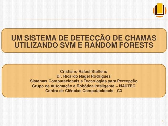 UM SISTEMA DE DETECÇÃO DE CHAMAS  UTILIZANDO SVM E RANDOM FORESTS  Cristiano Rafael Steffens  Dr. Ricardo Nagel Rodrigues ...