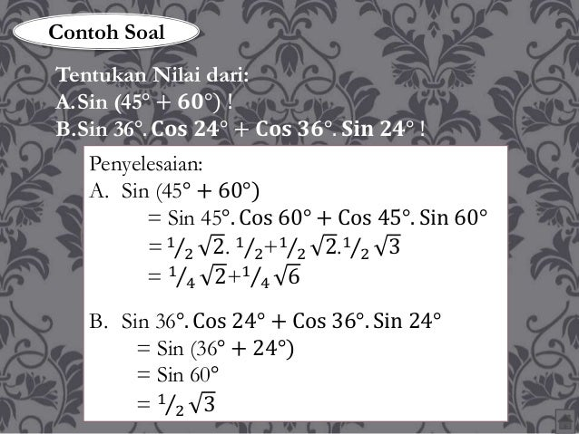 Materi Trigonometri Kelas X