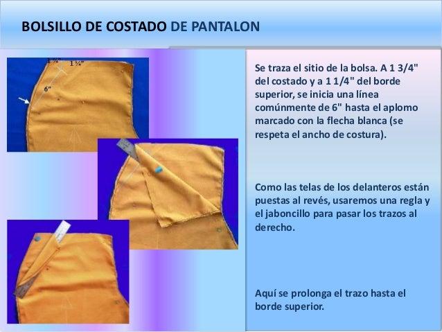 109171f927 BOLSILLO DE COSTADO DE PANTALON Se traza el ...