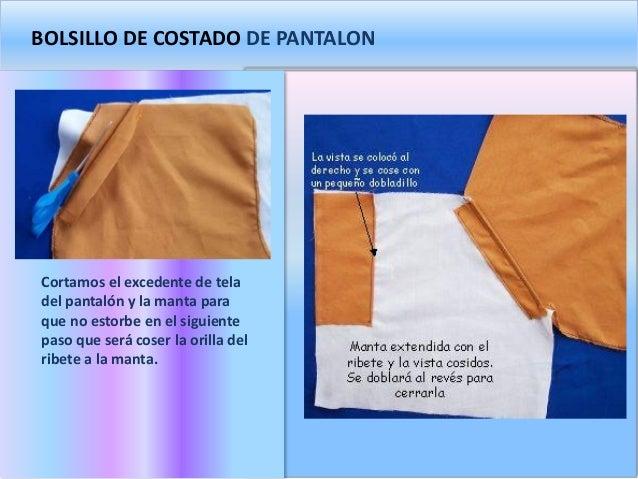 ea6f6c9427 BOLSILLO DE COSTADO DE PANTALON Cortamos el excedente de tela ...