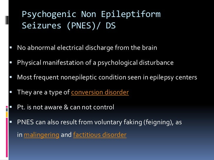 Non Epileptiform Seizures
