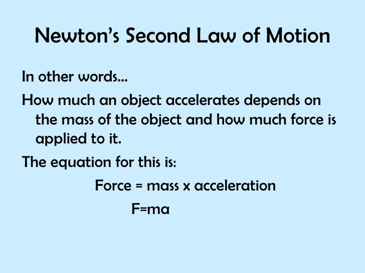 Ppt Newtons Second Law